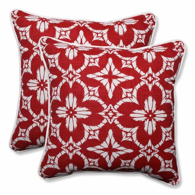 Charisse Indoor/Outdoor Throw Pillow Color: Apple - Red