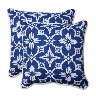 Charisse Indoor/Outdoor Throw Pillow Color: Cobalt