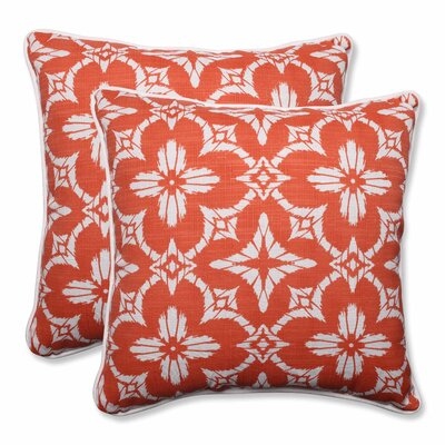 Aspidoras Indoor/Outdoor Throw Pillow Color: Coral