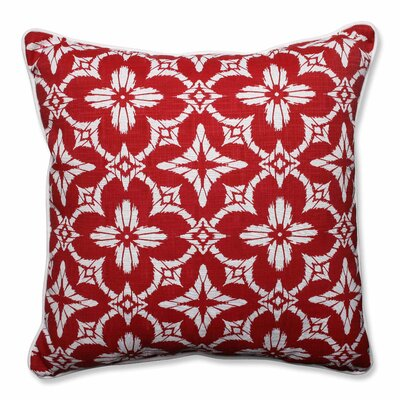 Charisse Indoor/Outdoor Floor Pillow Color: Apple - Red