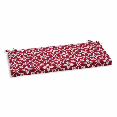 Aspidoras Outdoor Bench Cushion Color: Apple - Red