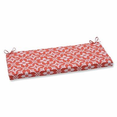 Aspidoras Outdoor Bench Cushion Color: Coral