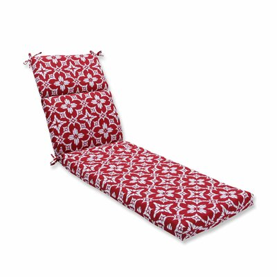 Aspidoras Outdoor Chaise Lounge Cushion Color: Apple - Red