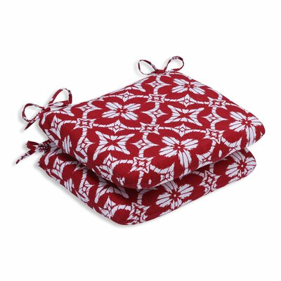 Aspidoras Outdoor Dining Chair Cushion Color: Apple - Red