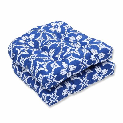 Aspidoras Outdoor Dining Chair Cushion Color: Cobalt