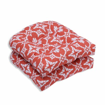 Aspidoras Outdoor Dining Chair Cushion Color: Coral