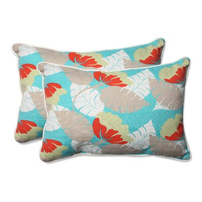 Avia Indoor/Outdoor Lumbar Pillow Color: Surf, Size: 16.5 H x 24.5 W