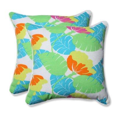 Avia Indoor/Outdoor Throw Pillow Color: Fiesta