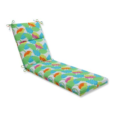 Avia Outdoor Chaise Lounge Cushion Color: Fiesta