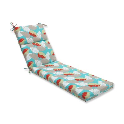 Avia Outdoor Chaise Lounge Cushion Color: Surf