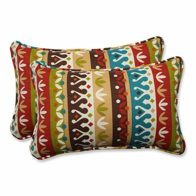 Reese Outdoor Lumbar Pillow Color: Jungle, Size: 11.5 H x 18.5 W