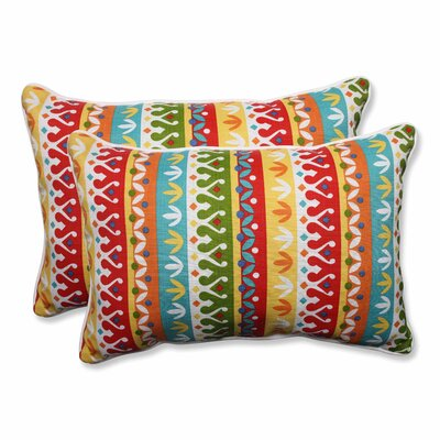 Cotrell Outdoor Lumbar Pillow Color: Garden, Size: 16.5 H x 24.5 W
