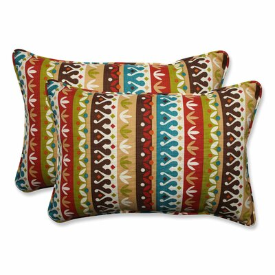 Cotrell Indoor/Outdoor Lumbar Pillow Color: Jungle, Size: 16.5 H x 24.5 W