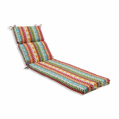 Cotrell Outdoor Chaise Lounge Cushion Color: Garden