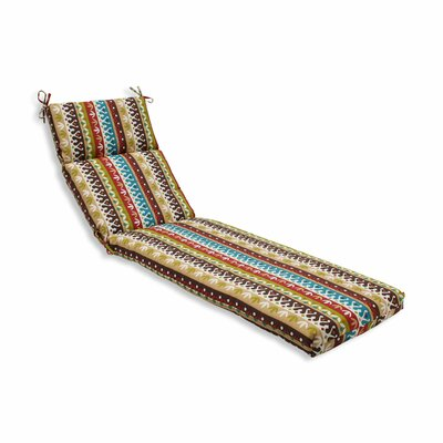 Cotrell Outdoor Chaise Lounge Cushion Color: Jungle