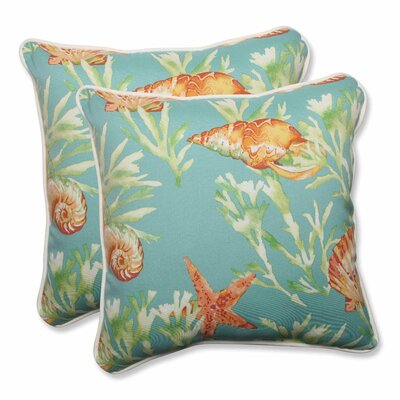 Daytrip Indoor/Outdoor Throw Pillow Color: Seaspray