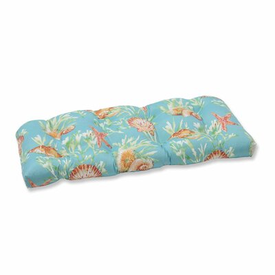 Daytrip Outdoor Loveseat Cushion Color: Seaspray