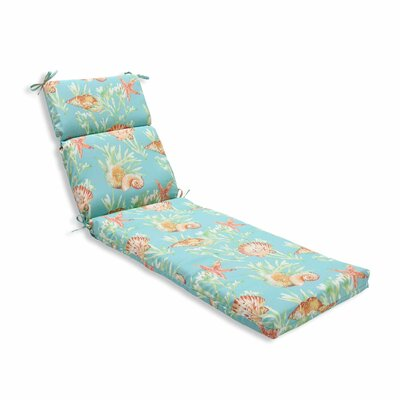 Daytrip Outdoor Chaise Lounge Cushion Color: Seaspray