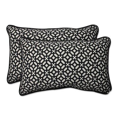 In The Frame Outdoor Lumbar Pillow Color: Ebony, Size: 16.5 H x 24.5 W
