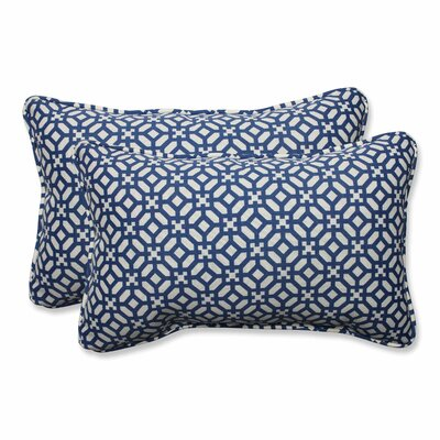 In The Frame Outdoor Lumbar Pillow Color: Sapphire, Size: 11.5 H x 18.5 W
