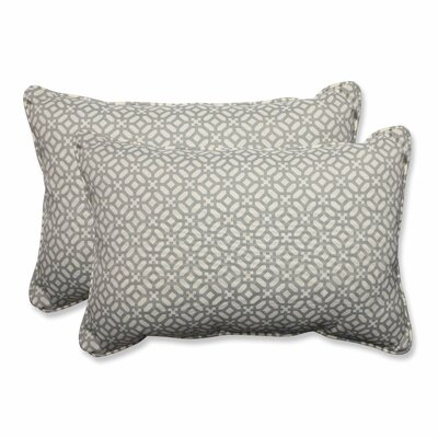 Leticia Outdoor Lumbar Pillow Color: Pebble, Size: 16.5 H x 24.5 W