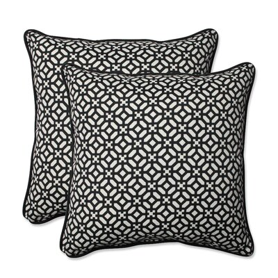 In the Frame Indoor/Outdoor Throw Pillow Color: Ebony
