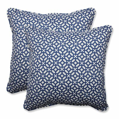 In the Frame Indoor/Outdoor Throw Pillow Color: Sapphire