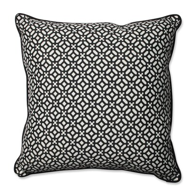 In the Frame Indoor/Outdoor Floor Pillow Color: Ebony