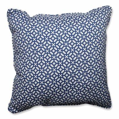 In the Frame Indoor/Outdoor Floor Pillow Color: Sapphire
