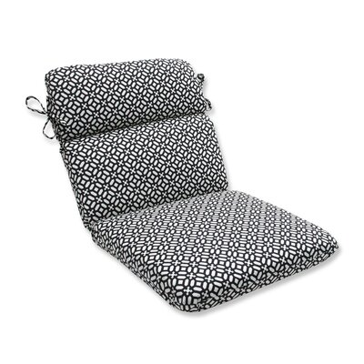 In the Frame Outdoor Dining Chair Cushion Color: Ebony