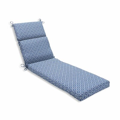 In the Frame Outdoor Chaise Lounge Cushion Color: Sapphire