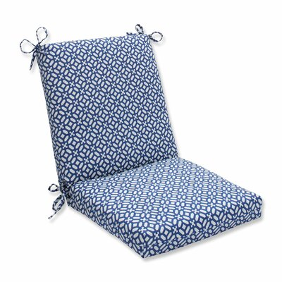 In the Frame Outdoor Dining Chair Cushion Color: Sapphire