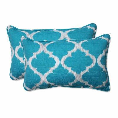 Kobette Indoor/Outdoor Lumbar Throw Pillow Color: Teal, Size: 11.5 H x 18.5 W