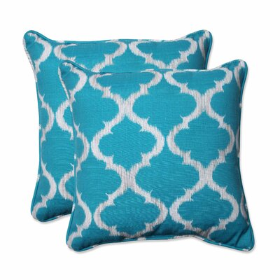 Marquerite Indoor/Outdoor Throw Pillow Color: Teal