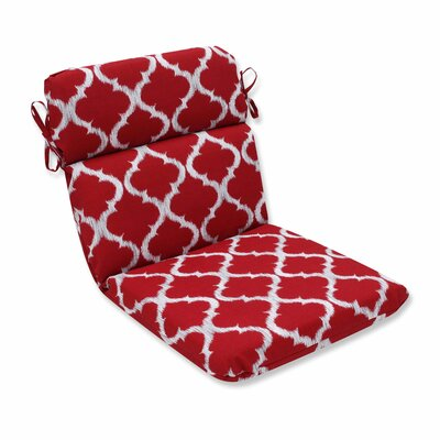 Kobette Outdoor Dining Chair Cushion Color: Red