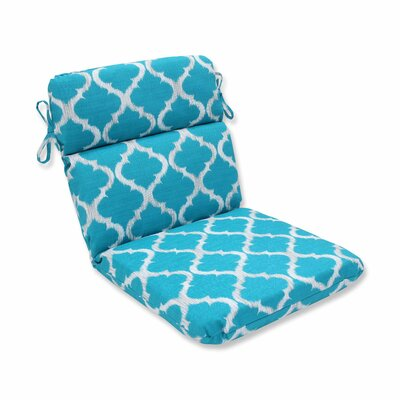 Kobette Outdoor Dining Chair Cushion Color: Teal