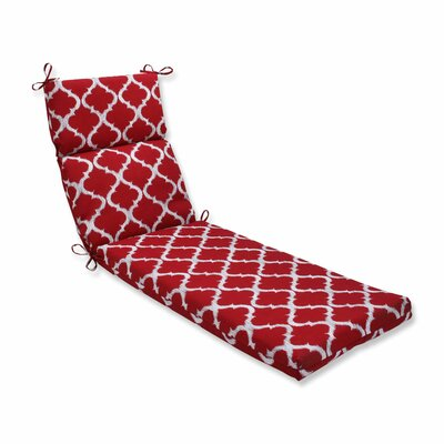 Kobette Outdoor Chaise Lounge Cushion Color: Red