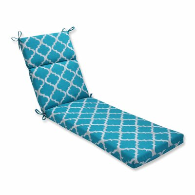Kobette Outdoor Chaise Lounge Cushion Color: Teal
