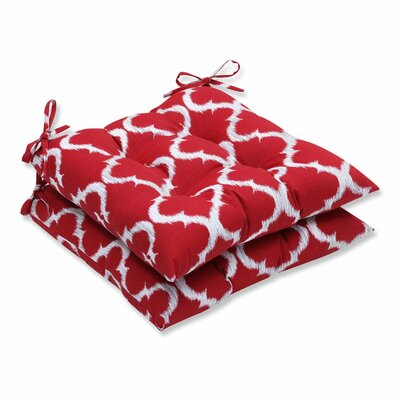 Bushnell Outdoor Dining Chair Cushion Color: Red