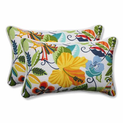 Guadaloue Indoor/Outdoor Lumbar Pillow Color: Garden, Size: 11.5 H x 18.5 W