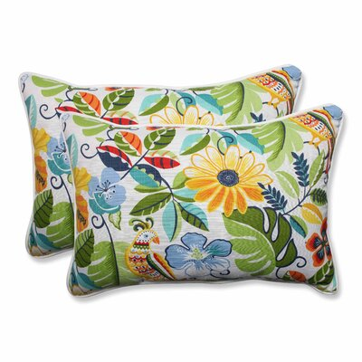 Guadaloue Indoor/Outdoor Lumbar Pillow Color: Garden, Size: 16.5 H x 24.5 W