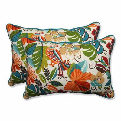 Guadaloue Indoor/Outdoor Lumbar Pillow Color: Jungle, Size: 16.5 H x 24.5 W