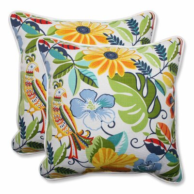 Guadaloue Indoor/Outdoor Throw Pillow Color: Garden