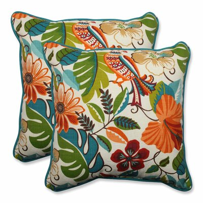 Guadaloue Indoor/Outdoor Throw Pillow Color: Jungle