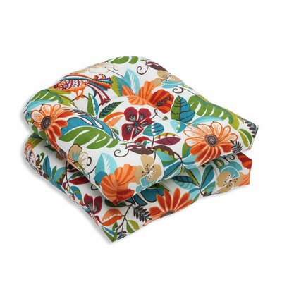 Lensing Outdoor Dining Chair Cushion Color: Jungle