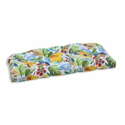 Guadaloue Outdoor Loveseat Cushion Color: Garden