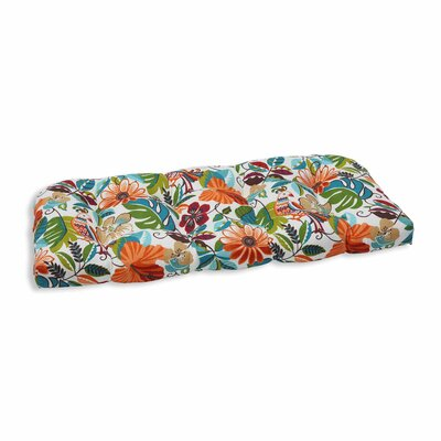 Guadaloue Outdoor Loveseat Cushion Color: Jungle