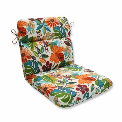 Guadaloue Florals and Leaves Outdoor Dining Chair Cushion Color: Jungle