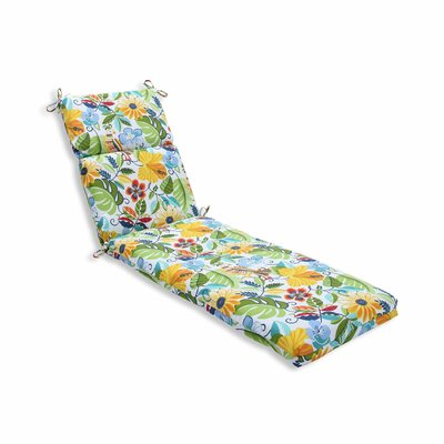 Guadaloue Outdoor Chaise Lounge Cushion Color: Garden