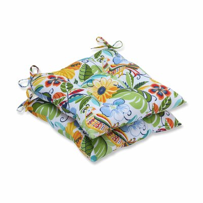 Guadaloue Fastene Outdoor Dining Chair Cushion Color: Garden